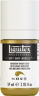 Liquitex Professional Soft Body Acrylic Paint 2-oz bottle, Iridescent Bright Gold
