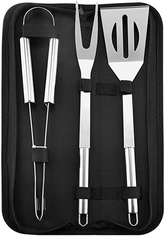 Fullyday Barbecue Utensil Set Stainless Steel BBQ Utensils Kit Professional Barbecue Accessories Kitchen Outdoor 3Pcs