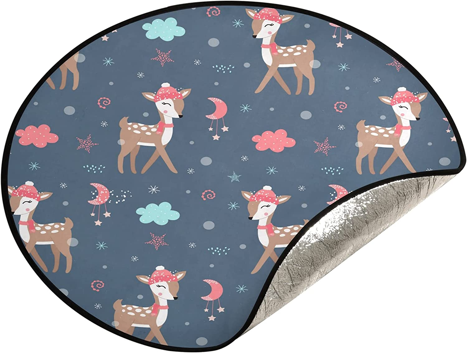 xigua supreme 28.3 Inch Christmas Tree Mat Stand Cute - Deers Max 45% OFF