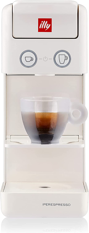 illy Caffè - Cafetera de cápsulas Iperespresso Y3.3, color blanco