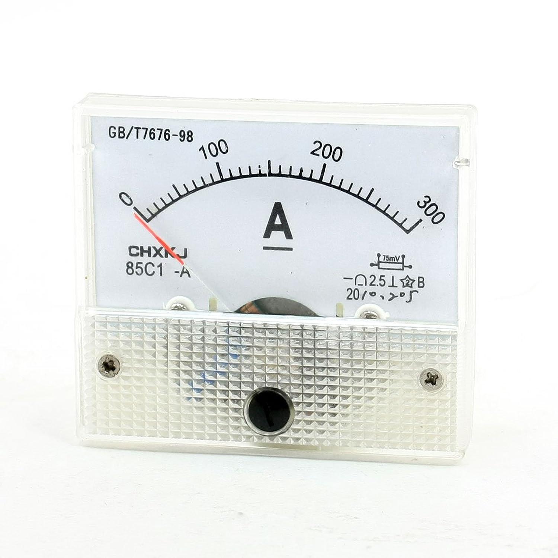 エッセンス音楽を聴く気候uxcell アナログアンペアメーター クリア ベージュ 測定装置 メジャー電流