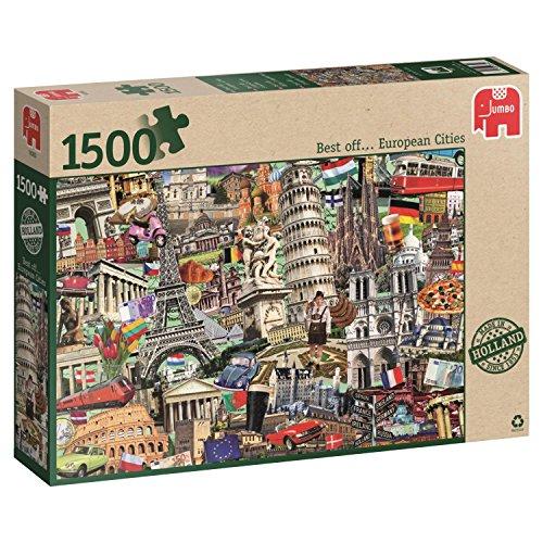 Jumbo-Best of… European Cities pcs Lo Mejor de. Las Ciudades Europeas, Puzzle de 1500 Piezas (618355)
