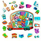MINICHICK Puzzles de Madera para niños 5,6,7,8 años. Rompecabezas de Madera para...