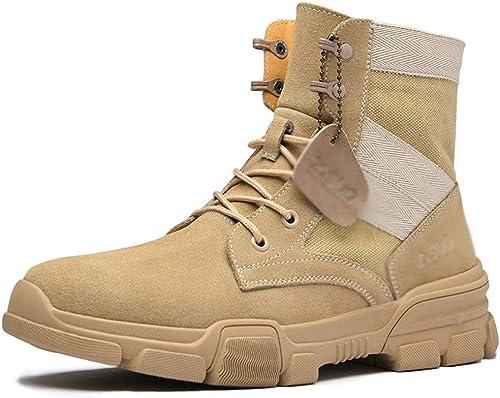 Pour des Hommes Militaire Armée Armée Bottes désert Bottes Tactique Combat Bottes Trekking Et Randonnée Homme en Marchant Travail Bottillons Chaussures à Lacets  haute qualité générale