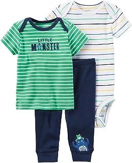 Carter's Baby Boy Little Monster 3-Piece Little Character Set Preemie