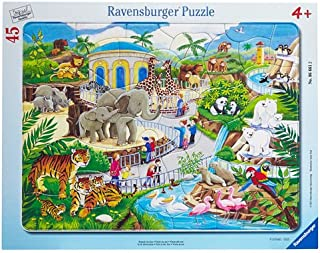 Ravensburger Visit to The Zoo 45 Piece Frame Jigsaw Puzzle for Kids – Every Piece is Unique, Pieces Fit Together Perfectly