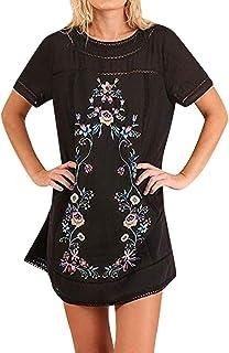 Claystyle Women/'s Printed Sleeveless V-Neck Maxi Dress Split Hem Baggy Kaftan Long Dress Gray