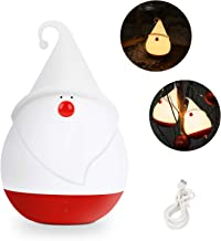 LMTIC Night Light for Kids, Santa Claus Led Nursery Lamp with Touch Sensor, Rechargeable Silicone Baby Nightlight, Adjustable Brightness and Warm White/ Cool White Color, Gift for Children Adults