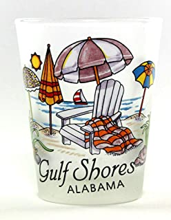 Gulf Shores Alabama Beach Chair Shot Glass