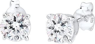 Elli Damen Ohrringe mit Swarovski Kristallen Basic Glamour in 925 Sterling Silber