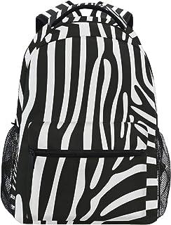 DEZIRO Animal Zebra Print Mochila para portátil Mochila escolar