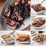 1 (2 lbs.) Fully Cooked Pot Roast | 1 (31.5 oz. pkg.) Baked Chicken & Dumplings 1 (30 oz. pkg.) Meat Lover's Lasagna | 1 (32 oz. pkg.) Short Rib Mac & Cheese 1 (20 oz.) Homestyle Meatloaf | 1 (32 oz. pkg.) Baked Beef Bourguignon Delivered To You - Ha...