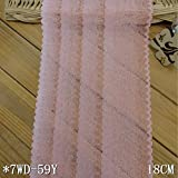 Lace Crafts - Hot 5 Yards 18cm Width Swiss French Lace Fabrics DIY Sewing Accessories Swiss Pink Embroidery Lace Wholesale