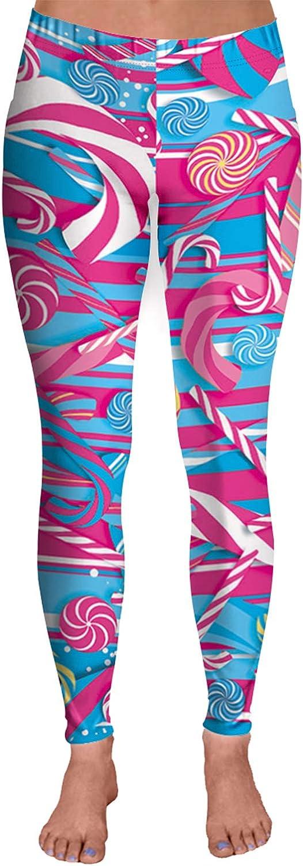 COCOLEGGINGS Lady Candies Digital Leggings Christmas Max 86% OFF Print Reservation Pants