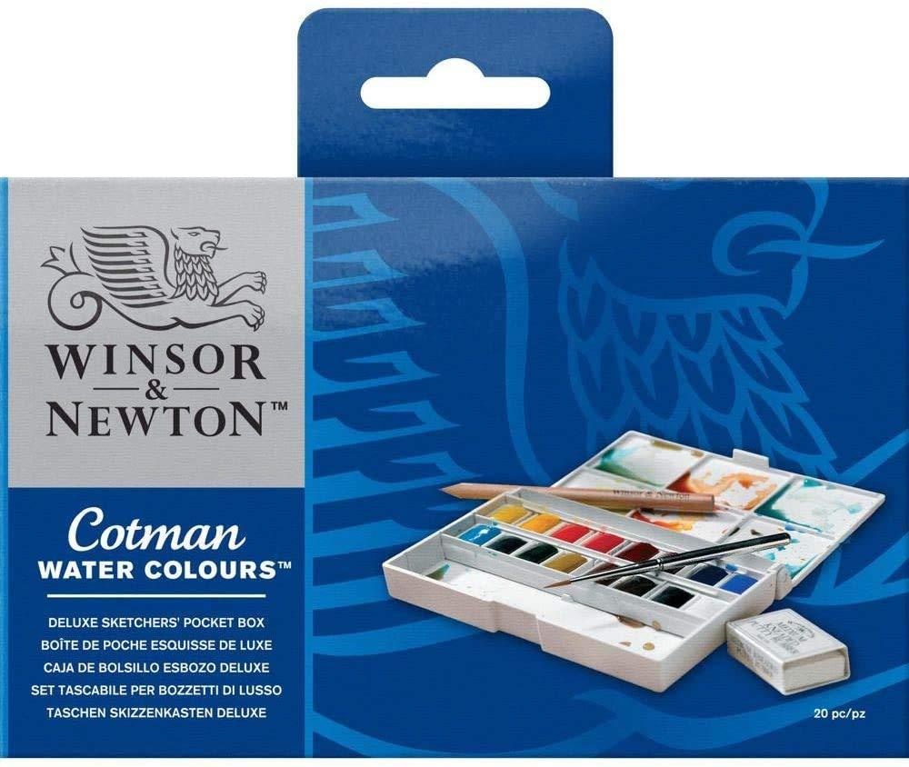 7 de los 10 colores para elegir. Winsor /& Newton Acuarela Artista Medio Pan
