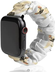 SWEET TANG Compatible with Apple Watch Bands, French Bulldog Lovely Sport Wristbands Replacement Strap with Classic Clasp for iWatch Series 6 5 4 3 2 1