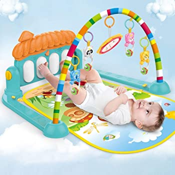 Supreme Deals® Latest Baby's Piano Gym Kick and Play Multi-Function ABS High Grade Plastic Piano Baby Gym and Fitness Rack with Hanging Rattles, Music & Light.(up to 2 Year)