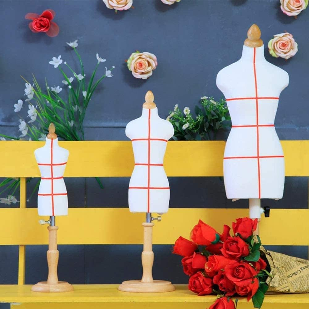 Mannequin Tailors Dummy Dressform Mini Dressmakers Dummy Famale Tailor Manikins Doll Dress Form Display Dollhouse Accessories Decoration Adjustable Height Color : All paste line Size : 1//3 I