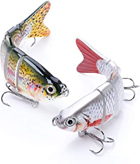 VTAVTA Fishing Lures for Bass Multi Jointed Swimbaits Slow Sinking Hard Lure Lifelike Fishing Bait Tackle Kits for Freshwater Saltwater