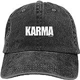 MWLSW Gorra béisbol clásica Karma Problems Gorra de béisbol Gorra de Camionero Gorra de Mezclilla Lavada Regalos Deportivos Aire Libre para Amantes Hip-Hop