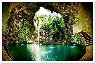 Barewalls Ik-Kil Cenote, Chichen Itza, Mexico Paper Print Wall Art (16in. x 24in.)