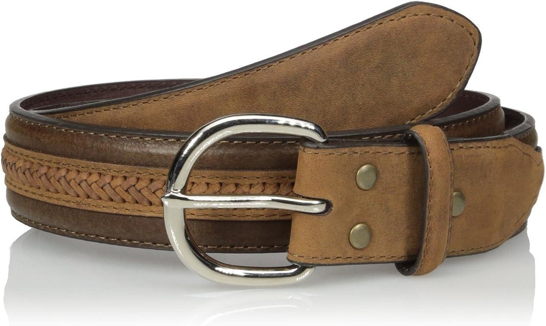 Regular dealer Nocona Men's Middle Under blast sales Belt Leather Weave