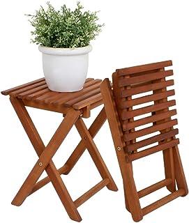 comprar comparacion Spetebo - Taburete plegable de madera de eucalipto