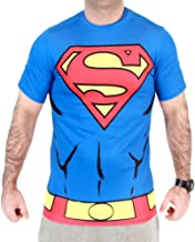 DC Comics Superman Men's Performance Compression Athletic Costume T-Shirt