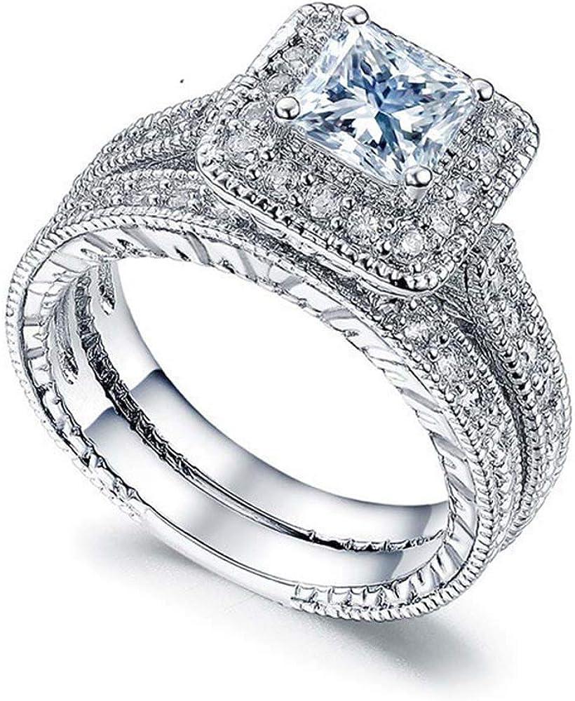 Taoqiao Square Cubic Zirconia Bridal Cut Jewelry Set CZ Latest item Princess A surprise price is realized