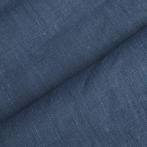 aktivstoffe Holmar - Tela 100% Lino - Prelavado - Translúcido - por Metro (Azul Ahumado)