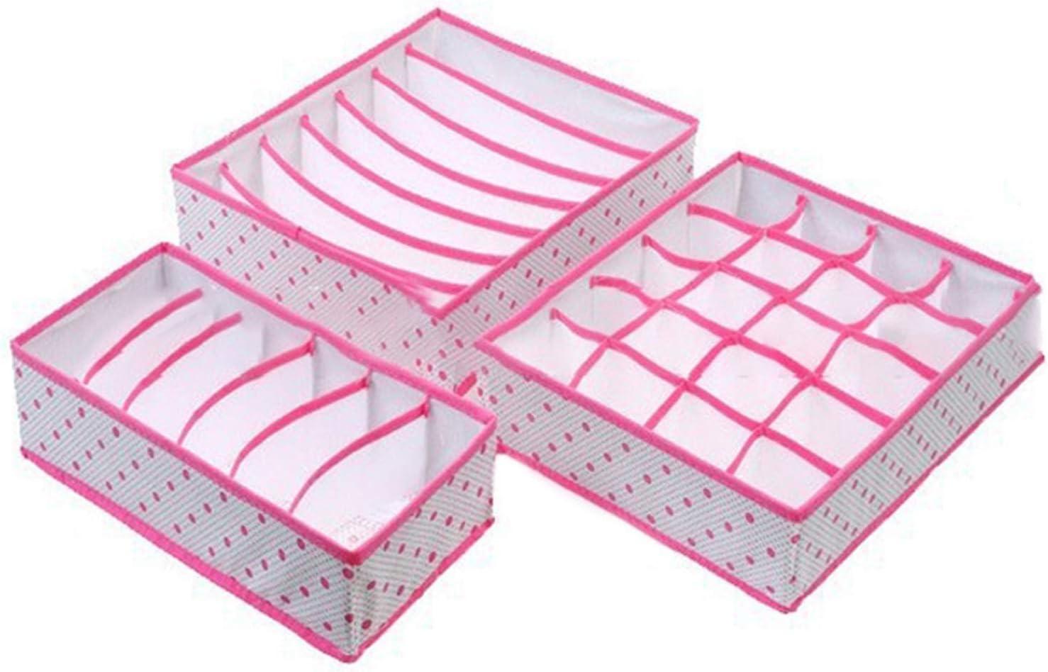 Charlotte Mall Box 3PCS Set Foldable Underwear Tie Socks Bra National products Clothes Organizer