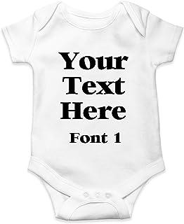 Personalised ANY TEXT Baby Grow Bodysuit Baby Shower Vest Christening Newborn Christmas Birthday Gender Reveal Present Boy...