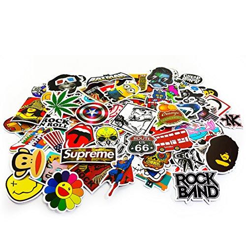 Oblique-Unique Aufkleber 100 Stück Sticker Graffiti Style Reisen Skateboard Snowboard Vinylaufkleber Graffiti Laptop Gepäck Auto Fahrrad