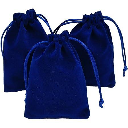 10 20 50 Black Luxury Velvet Jewellery Drawstring Wedding Pouches Gift Bags