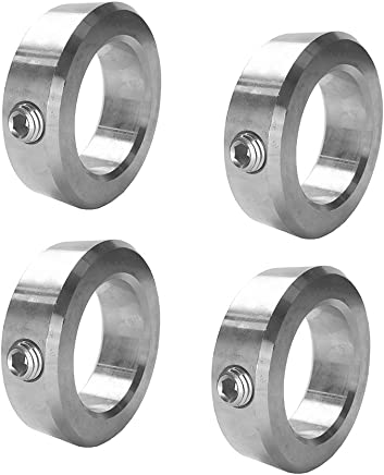 "5/8""Bore Solid Steel Zinc Plated Shaft CollarsSet Screw Style (4 PCS)"