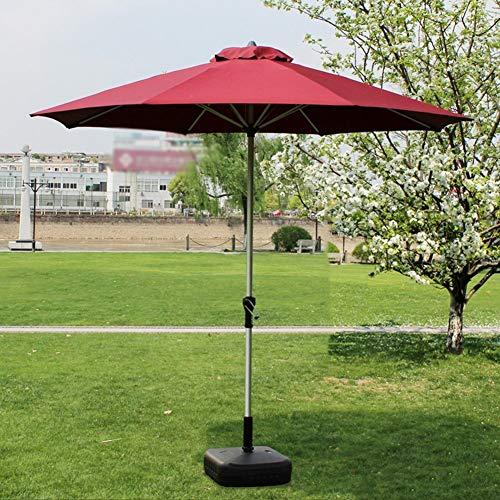 GBTB Sombrillas Market Patio Sombrilla al Aire Libre Jardín Mesa de jardín Toldo Solar Protección UV 270cm * 250cm (Color: Poste de Aluminio)