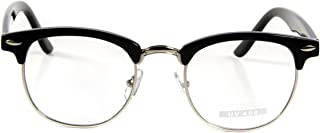Vintage Nerd Fashion Clear Eyeglasses, Clear Lens Retro Eye Glasses Frames