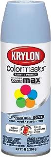 Krylon K05151707 ColorMaster Paint + Primer, Gloss, Peekaboo Blue, 12 oz.