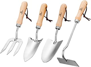 Gardening Gifts for Men /& Women Garden Tools Durable Storage Tote Bag and Pruning Shears 10 Piece Stainless Steel Gardening Tools Set with Soft Rubberized Non-Slip Handle