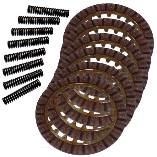 Caltric Clutch Friction Plates & 8 Springs Compatible with Yamaha Moto-4 80 Yfm80 Yfm-80 1985-1988