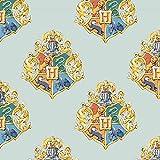 Harry Potter Hogwarts-Wappen, hellgrün, Baumwollstoff, pro
