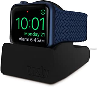Orzly Compact Stand for Apple Watch - Nightstand Mode Compatible - RED Support Stand with Integrated Cable Management Slot...