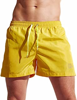 a8ebb362f6 Aurorax Men's Swim Trunks Basic Watershorts Beach Shorts - [Slim Fit Quick  Dry Shorts]