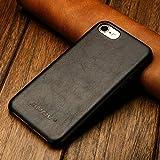 JISONCASE Vintage Lederhülle für iPhone SE 2020/ iPhone 8 / iPhone 7 aus echtem Leder Ultra Dünn...