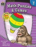 Ready-Set-Learn: Math Puzzles and Games Grd 2