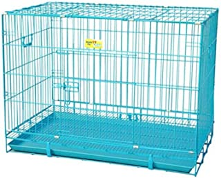 JAINSONS PET PRODUCTS 36-inch Metal Dog Cage (Blue, Large)