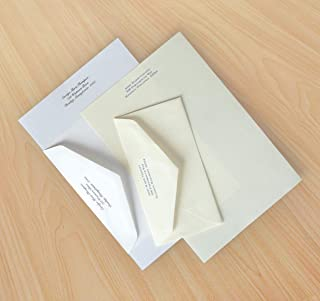 Business Favorite Monarch Box - Set of 100 Sheets and Envelopes - M