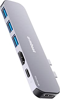 mbeat Elite Mini P8 Space Grey Aluminium USB Type-C Dual 4K HDMI Hub Adapter with 60W USB-C PD Fast Charging, Dual 4K HDMI...