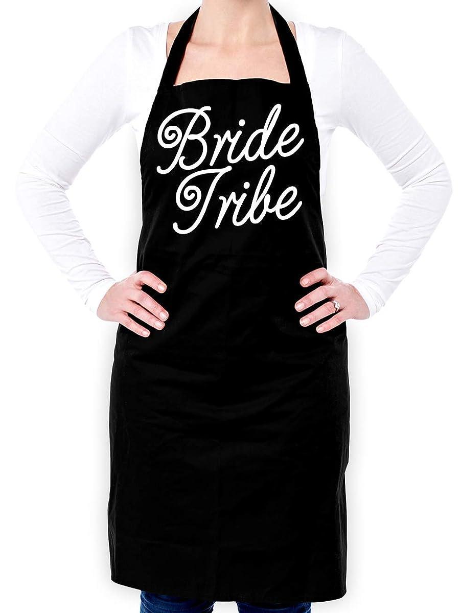 Dressdown Bride Tribe Script - Unisex Adult Apron - Black - One Size