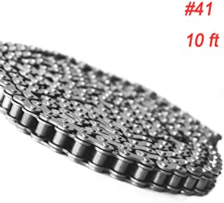 FDJ 41 roller chain Minibike Go kart Chain 10 Feet with Master Links